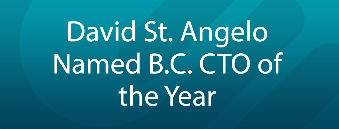 CE's David St. Angelo Named as B.C. CTO of the Year